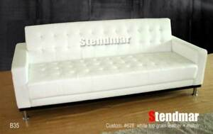 NEW MODERN DESIGNER LEATHER SLEEPER SOFA BED B35D