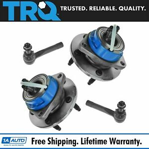 TRQ Wheel Hub amp Outer Tie Rod Kit Front Set of 4 for Chevy Olds Pontiac NEW $99.95