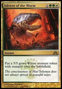 1x Advent of the Wurm Dragon's Maze MtG Magic Gold Rare 1 x1 Card Cards