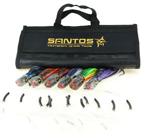 Santos Small Marlin  Sailfish Big Game Trolling Lure Pack - Rigged 30-50lb