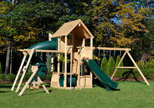 Triumph Play Systems White Cedar Swing Set - CANTERBURY LOADED!