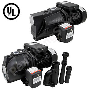 1/2, 3/4 or 1 HP Shallow Well or Deep Well Jet Pump w/ Pressure Switch, 115/230V