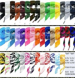 Fat Shoelaces Thick Flat 3 4quot; Wide Shoelaces Solid Color for All Shoe Types