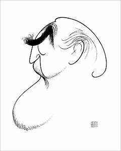 Al Hirschfeld's SELF PORTRAIT AT 86 Hand Signed Limited Edition Lithograph