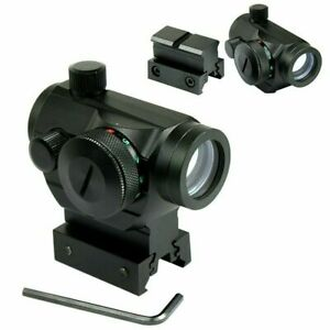 Tactical Holographic Green Red Dot Sight Scope with Rail Mount amp; 1quot; Rail Riser