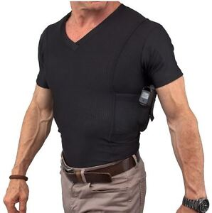 UnderTech Undercover Men's Concealed Carry Coolux Mesh V-Neck Tee 4032