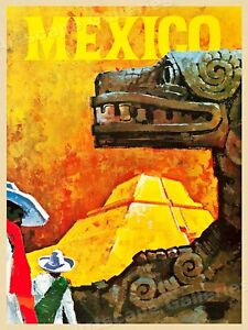 Mexico 1960#x27;s Vintage Travel Poster 18x24 $11.95