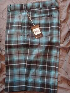 NIKE GOLF TOUR PERFORMANCE DRI FIT PLAID SHORTS 34 33 32 MEN NWT $70.00