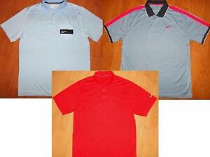 LOT of 3 - NIKE GOLF DRI-FIT & FIT DRY SHORT SLEEVE POLO SHIRTS MENS LARGE