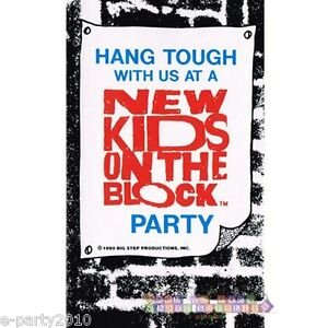 NEW KIDS ON THE BLOCK INVITATIONS 8 Vintage Birthday Party Supplies Cards