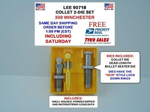 90718 * LEE PRECISION COLLET 2-DIE SET * 308 WINCHESTER * #90718 * NEW!