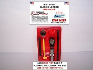 90254 * LEE CLASSIC LOADER SET * 9MM LUGER ( NO FLARING TOOL WITH THIS KIT)