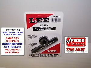 90114 * LEE CASE LENGTH GAUGE & #4 SHELL HOLDER * 223 REMINGTON * #90114 * NEW!