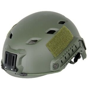 Lancer Tactical CA-334G Airsoft Fast Helmet Vented wRails & NVG Shroud OD Green
