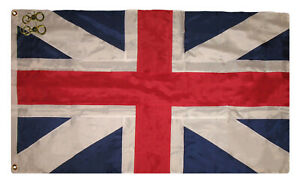 3x5 Embroidered Great Britain Kings Colors 300D Nylon Flag 3'x5' With 2 Clips