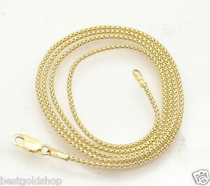 1.3mm Popcorn Coreana Chain Necklace  Solid Real 10K Yellow Gold 16