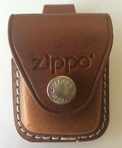 Zippo Brown Leather Lighter Pouch With Belt Loop LPLB New In Box