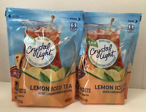 Crystal Light Iced Tea Lemon Flavor 2 Bags of 16 Pitcher Packs Each NEW $17.99