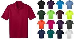 Port Authority Mens Big amp; Tall Silk Touch Dri Fit Polo Shirts NEW GOLF TLK540 $14.95