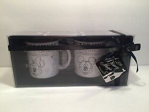 MICKEY MOUSE AND MINNIE MOUSE DISNEY PARKS MUG CUP CHARACTER CONSTRUCTION