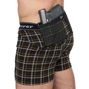 UnderTech Undercover Men's Concealed Carry Plaid Boxer-Briefs 4033