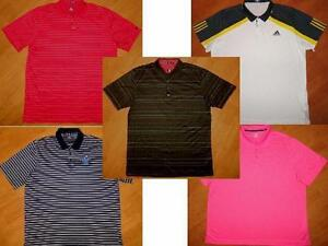 LOT of 5 - NIKE TIGER WOODS GOLF UNDER ARMOUR ADIDAS POLO SHIRTS XXL MENS 2XL