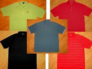 LOT of 5 - NIKE GOLF DRI-FIT & TIGER WOODS FIT DRY POLO SHIRTS XL