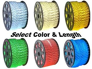 12V LED Rope Lights Home Auto Boat Lighting Red Green Blue Cool amp; Warm White