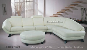 4PC MODERN EURO DESIGN LEATHER SECTIONAL SOFA S685