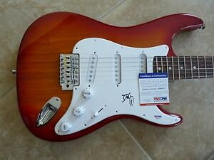 Jack White Stripes Signed Autographed Guitar Fender Squier Bullet PSA Certified