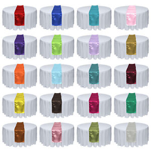 1 5 10 20pcs 12 x 108 Satin Table Runner Wedding Party Banquet Decorations $1.99