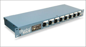 New Radial Engineering SW8 8-Channel Rack Mount Direct Box & Auto Switcher
