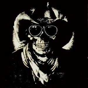 GIANT SIZE SKELETON SKULL COWBOY FABRIC WALL HANGING huge wall banner flag WH794 $6.95