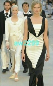 $11K NWT MOST WANTED CHANEL 11C RUNWAY FULL LENGTH DRESS EXRA FABRIC BUTTON 40 M