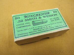 Vintage Winchester .32 cal 50ct Cartridge Box (EMPTY)