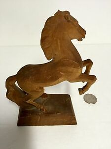 Hand Carved Horse Sculpture