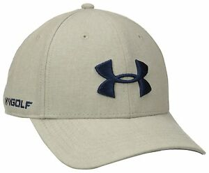 Under Armour RICH Men's Light KhakiMidnight Navy UA Golf Cap Hat Sz OS **