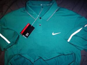 NIKE TIGER WOODS COLLECTION GOLF DRI-FIT POLO SHIRT XXL L M MEN NWT $105.00