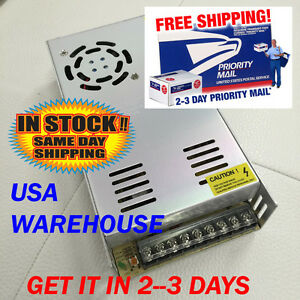 12V DC 30A Regulated Switching Power Supply 360W LED Strip Light USA SELLER $28.00