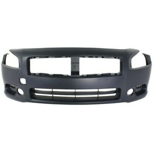 Front Bumper Cover For 2009 2014 Nissan Maxima w fog lamp holes Primed $115.72