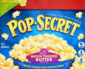 Pop Secret Premium Popcorn Movie Theater Butter Made in USA 30 or 15 Bags