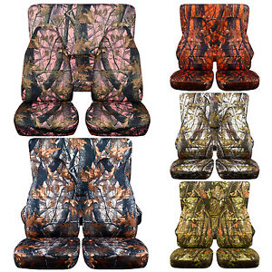 Fits TOYOTA 4 RUNNER Front Rear seat covers choice in camouflage plus others