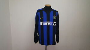 INTER MILAN SHIRT JERSEY MAGLIA ITALY ITALIA FOOTBALL LS LONG SLEEVE