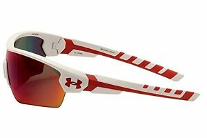 Under Armour Rival 8600090-106451 Shield Sunglasses Shiny WhiteRed 42 mm