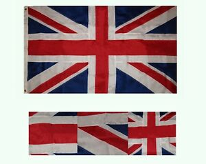 3x5 Embroidered Great Britain UK England 210D Duramax Nylon Flag 3'x5' 2 Clips