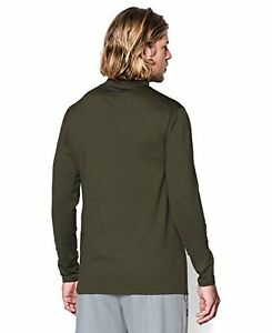 Under Armour Mens UA ColdGear® Infrared Fitted Mock Large GREENHEAD