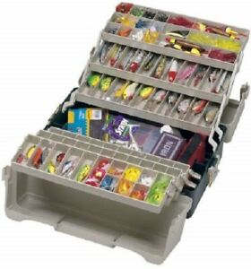 Fishing Tackle Box 6 Trays Roof Storage Organizer Holder Durable Mold Crafts
