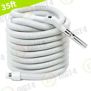 Central Vacuum 35' Non-Electric Hose with On/Off Switch-Clean and Healthy Home!!