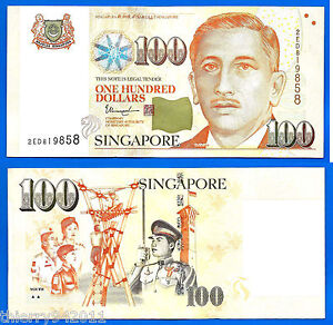 Singapore 100 Dollars 2013 2 triangles under Youth Asia Free Shipping World $116.50