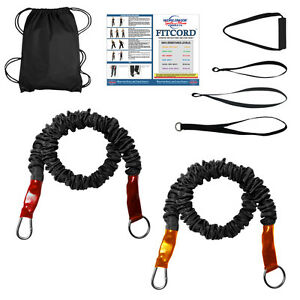 FitCord Yoga Bands - Standard Veteran Kit - 2 Resistance Bands & Accessories